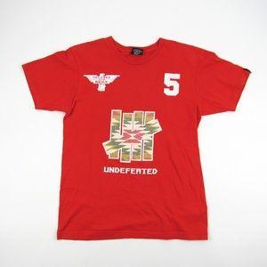 Undefeated Mens Medium Shirt Red 5